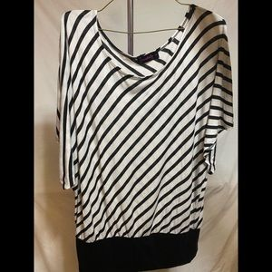 Annabelle white & black stripped shirt